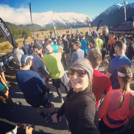 Mount Cook Half Marathon start line